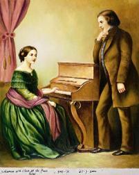 Роберт Шуман и Клара Шуман.