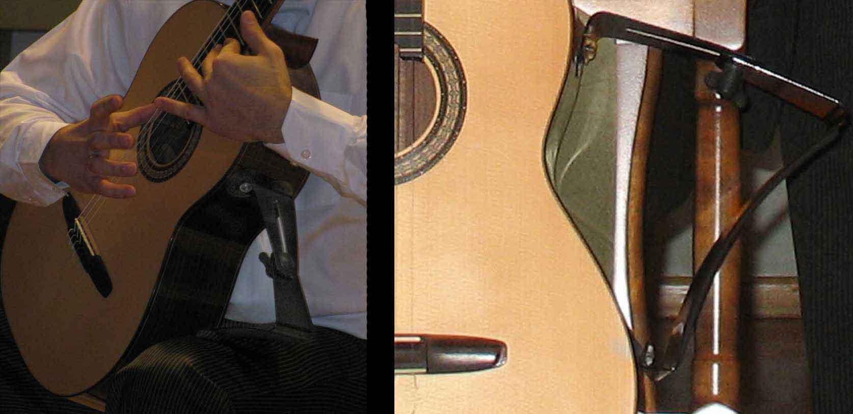Распространенная подставка под гитару на трех присосках