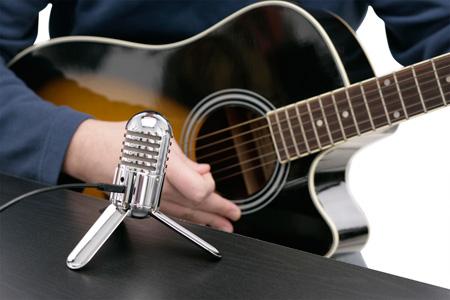 Подзвучка гитары с помощью микрофона
