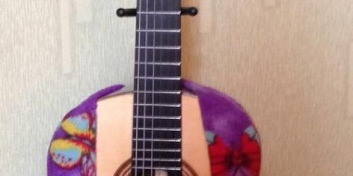 Гитара ночует в своей жилетке ночью