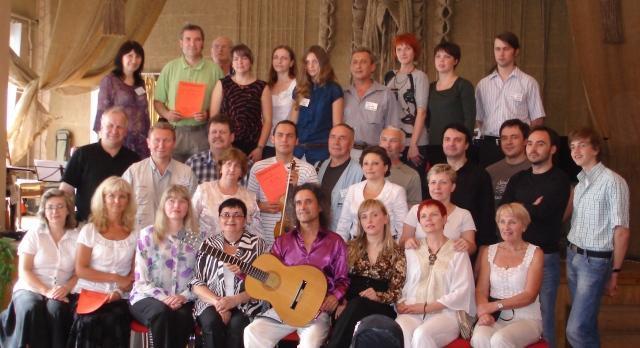 Общая фотография участников Летней Гитарной Академии Ворзель-2010