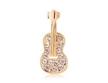 Украшение в виде гитары из золота