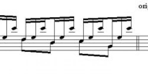 Замена аккорда в аранжировке Астурии Андресом Сеговией