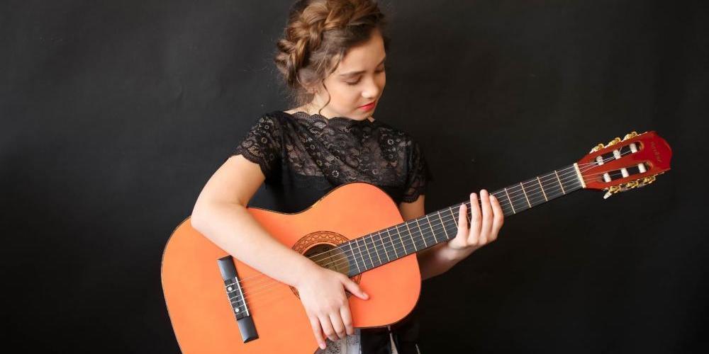 Участница конкурса Гитарная концентрация-6, гитаристка Дарья Прудникова